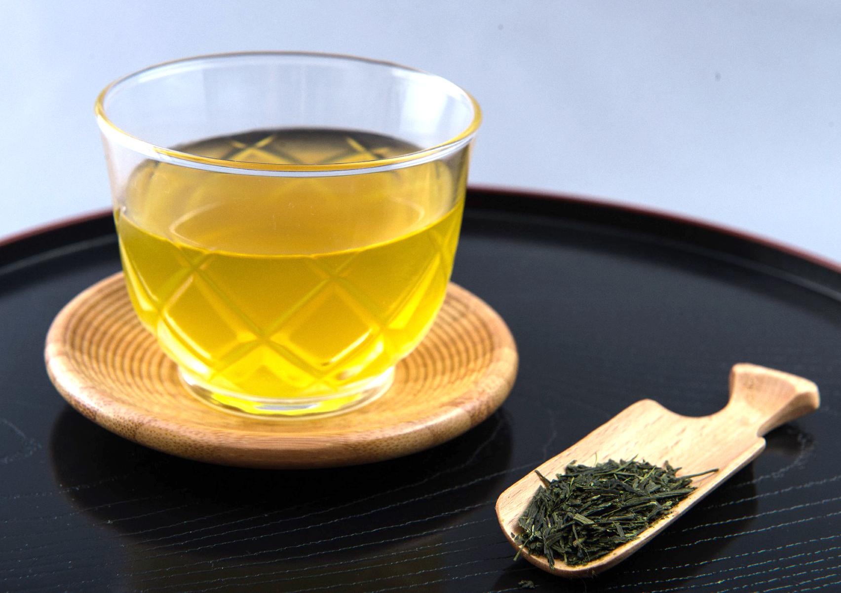 冷たい緑茶!