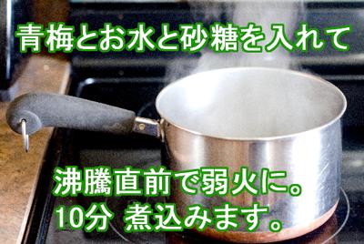 梅ジュース・鍋説明