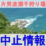 片男波潮干狩り場の潮干狩り中止の情報の画像