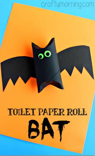 すべての折り紙 かぼちゃの折り紙 : Halloween Toilet Paper Roll Bat Craft