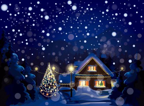 クリスマスの雪のイラスト