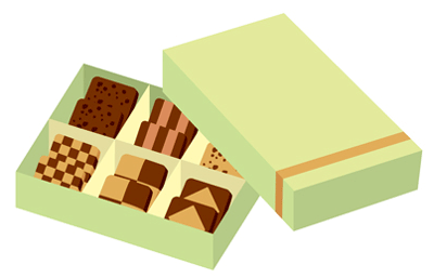 お菓子の贈り物