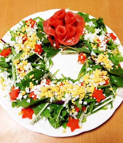 リーフ風サラダ