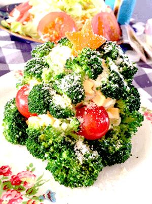 クリスマスツリー風サラダ
