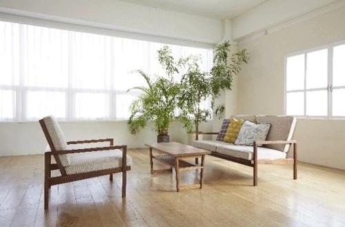 日の当たる部屋