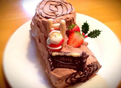 クリスマスのブッシュドノエル