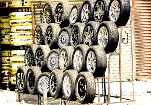 車のタイヤの保管