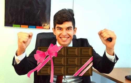 バレンタインチョコと男性