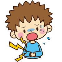 下痢の子供のイラスト