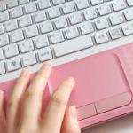 ピンクのパソコン