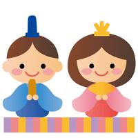 雛人形のイラスト