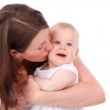 赤ちゃんとママの画像