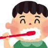 赤ちゃんの歯磨きイラスト