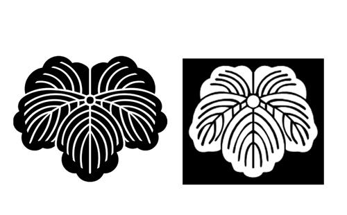 蔦の黒地と白地のイラスト