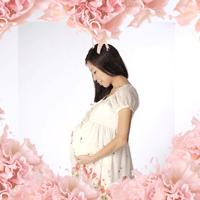 妊娠中の女性ハート