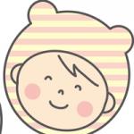 赤ちゃんと帽子のイラスト