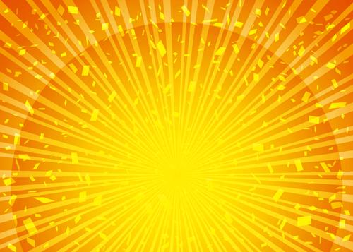 太陽の日差しが強いイラスト