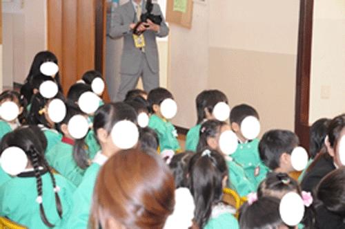 入園式の子供たちの集合写真