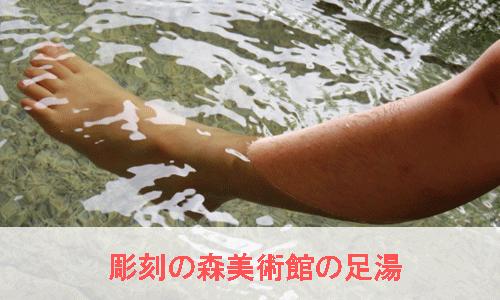 彫刻の森美術館の足湯のイメージ画像