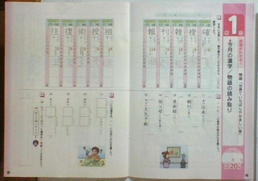 チャレンジ5年生の無料資料請求の国語の教材写真